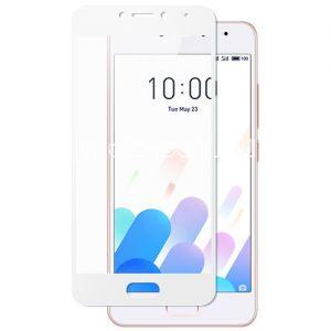 Защитное стекло для Meizu M5c [на весь экран] Aiwo (белое)