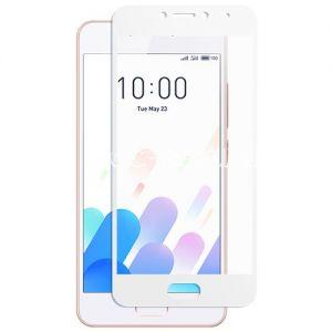 Защитное стекло для Meizu M5c [на весь экран] (белое)