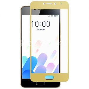 Защитное стекло для Meizu M5c [на весь экран] (золотистое)