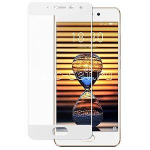 Защитное стекло для Meizu Pro 7 [на весь экран] (белое)