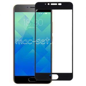 Защитное стекло для Meizu M5 [на весь экран] Aiwo (черное)