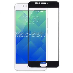 Защитное стекло для Meizu M5s [на весь экран] Aiwo (черное)