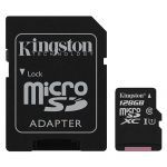 Карта памяти microSDXC Kingston Canvas Select SDCS/128GB + SD adapter (128Gb)