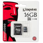 Карта памяти microSDHC 16GB Class 10 Kingston + SD adapter