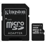 Карта памяти microSDHC Kingston Canvas Select SDCS/16GB + SD adapter (16Gb)