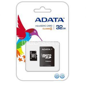 Карта памяти microSDHC 32GB Class 4 ADATA + SD adapter