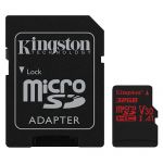 Карта памяти microSDHC Kingston Canvas React SDCR/32GB + SD adapter (32Gb)