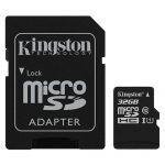 Карта памяти microSDHC Kingston Canvas Select SDCS/32GB + SD adapter (32Gb)