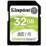 Карта памяти SDHC Kingston Canvas Select SDS/32GB (32GB)