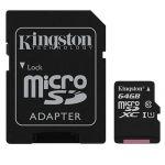 Карта памяти microSDXC Kingston Canvas Select SDCS/64GB + SD adapter (64Gb)