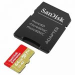 Карта памяти microSDXC SanDisk Extreme SDSQXA2-064G-GN6AA + SD Adapter (64Gb)