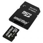 Карта памяти microSDXC SmartBuy SB64GBSDCL10-01 + SD Adapter (64Gb)