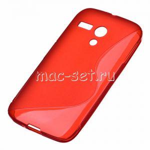 Чехол-накладка силиконовый для Motorola Moto G / G Dual SIM (красный) S-Line