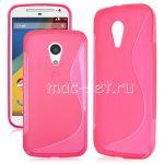 Чехол-накладка силиконовый для Motorola Moto G 2nd Gen (розовый) S-Line