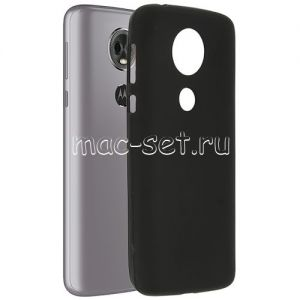 Чехол-накладка силиконовый для Motorola Moto E5 Plus (черный 0.8мм)