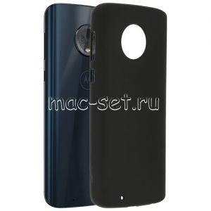 Чехол-накладка силиконовый для Motorola Moto G6 (черный 0.8мм)
