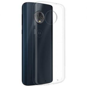 Чехол-накладка силиконовый для Motorola Moto G6 Plus (прозрачный 1.0мм)