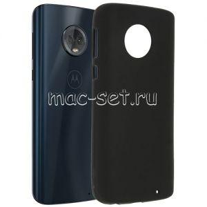 Чехол-накладка силиконовый для Motorola Moto G6 Plus (черный 0.8мм)