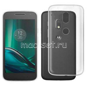 Чехол-накладка силиконовый для Motorola Moto G4 Play (прозрачный 0.3мм)