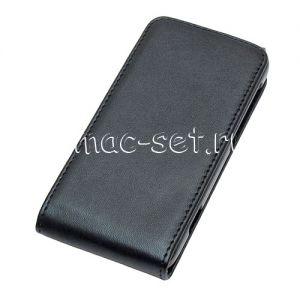 Чехол вертикальный флип кожаный для Motorola Razr i XT890 / M XT907 (черный)