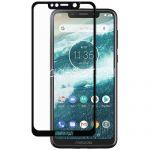 Защитное стекло для Motorola One Power / P30 Note [на весь экран] (черное)