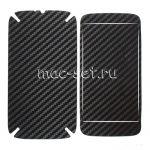 """Виниловая наклейка """"карбон"""" для Motorola Moto G / G Dual SIM [комплект] (черная)"""