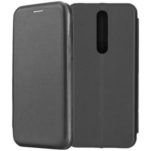 Чехол-книжка кожаный для Nokia 3.1 Plus (черный) Book Case Fashion