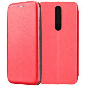 Чехол-книжка кожаный для Nokia 3.1 Plus (красный) Book Case Fashion