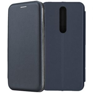 Чехол-книжка кожаный для Nokia 3.1 Plus (синий) Book Case Fashion