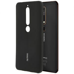 Чехол-накладка силиконовый для Nokia 6.1 (черный) Cherry