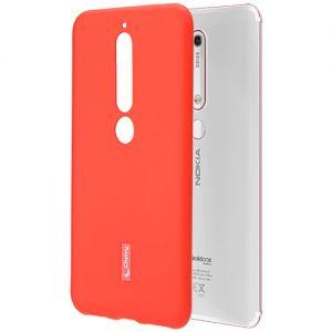 Чехол-накладка силиконовый для Nokia 6.1 (красный) Cherry