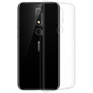 Чехол-накладка силиконовый для Nokia 6.1 Plus (прозрачный 1.0мм)