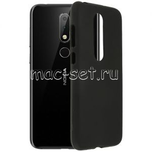 Чехол-накладка силиконовый для Nokia 6.1 Plus (черный 0.8мм)