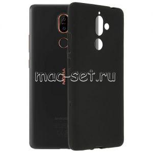Чехол-накладка силиконовый для Nokia 7 Plus (черный 0.8мм)