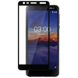 Защитное стекло для Nokia 3.1 [на весь экран] (черное)