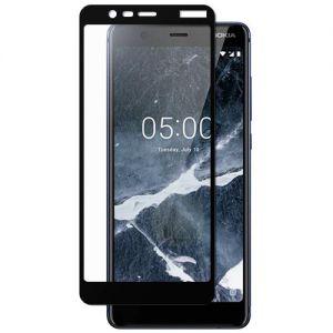 Защитное стекло для Nokia 5.1 [на весь экран] (черное)