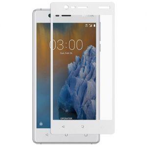 Защитное стекло для Nokia 3 [на весь экран] (белое)