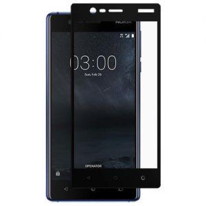Защитное стекло для Nokia 3 [на весь экран] (черное)