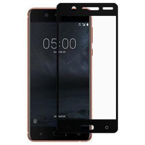 Защитное стекло для Nokia 5 [на весь экран] (черное)