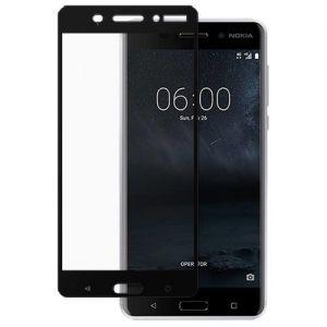 Защитное стекло для Nokia 6 [на весь экран] (черное)