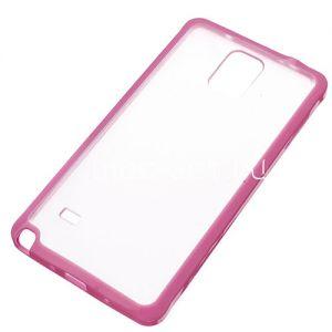 Чехол-бампер силиконовый для Samsung Galaxy Note 4 N910 с прозрачной накладкой (розовый)