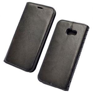 Чехол-книжка кожаный для Samsung Galaxy A5 (2017) A520 (черный) Book Case New