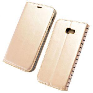 Чехол-книжка кожаный для Samsung Galaxy A5 (2017) A520 (золотистый) Book Case New