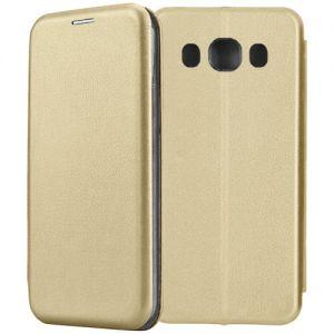 Чехол-книжка для Samsung Galaxy J5 (2016) J510 (золотистый) Fashion Case