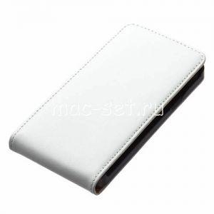 Чехол вертикальный флип кожаный для Samsung Galaxy S2 I9100 (белый)
