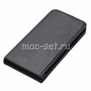 Чехол вертикальный флип кожаный для Samsung Galaxy S2 I9100 (черный)