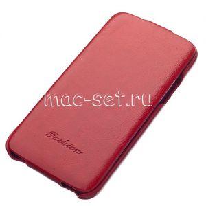 Чехол вертикальный флип кожаный для Samsung Galaxy S5 G900 (красный) Fashion