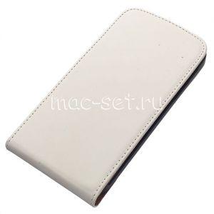 Чехол-книжка вертикальный флип для Samsung Galaxy S5 G900 (белый)