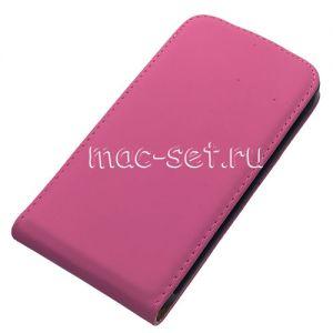 Чехол-книжка вертикальный флип для Samsung Galaxy S5 G900 (розовый)