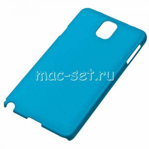 Чехол-накладка пластиковый для Samsung Galaxy Note 3 N900 (голубой)